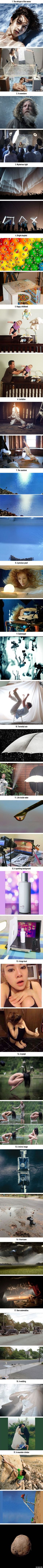 19 photos showing the incredible tricks people use to get the perfect shot.............the root of my trust issues