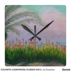 COLORFUL CLEARWATER, FLORIDA Wall Clock