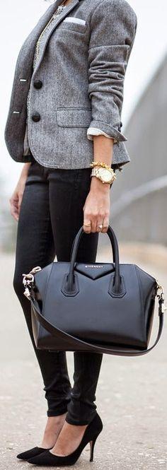 work wear work fashion shoes bag chic stylish