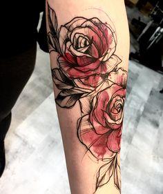 Last day but always fun! Should my daughters name be Rose (Róża)? Body Art Tattoos, New Tattoos, Small Tattoos, Sleeve Tattoos, Tatoos, Last Name Tattoos, Pretty Tattoos, Beautiful Tattoos, Piercing Tattoo