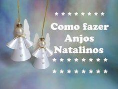 COMO FAZER ANJOS NATALINOS DE PAPEL 2015 - YouTube