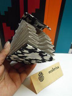 ecobrisa: Tarjetero con tubos de papel higienico
