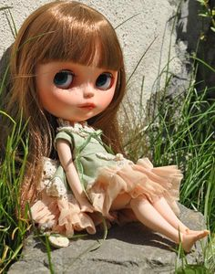 OOAK Custom Blythe Doll, hand painted art doll by DollVille