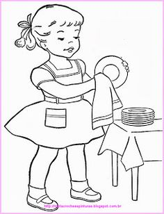 People Coloring Pages, Coloring Book Pages, Art Wall Kids, Art For Kids, Black And White Art Drawing, Islamic Cartoon, Art Drawings For Kids, Paper Embroidery, Tea Art