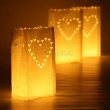 20 stuks hart thee licht houder luminaria kaars zak papieren lantaarn voor thuis outdoor bbq christmas party bruiloft decoratie(China (Mainland))