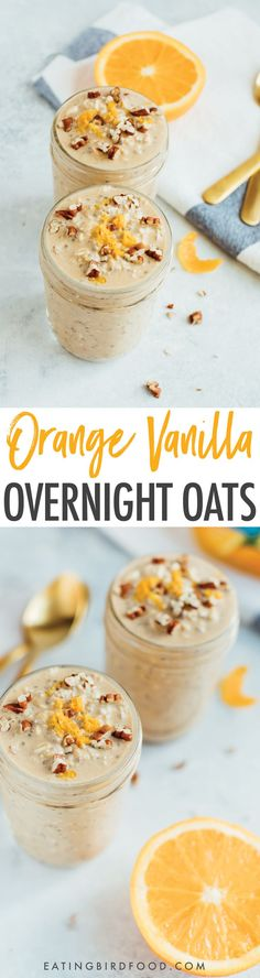 Vanilla Orange Overnight Oats made with @Trop50, which has 50% less sugar and cals! #ad #SugarHacks