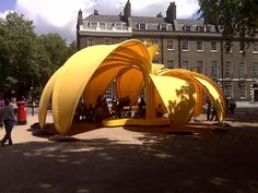 Like this fabric structure in Bedford Square. Pavilion Architecture, Landscape Architecture, Interior Architecture, Sustainable Architecture, Residential Architecture, Contemporary Architecture, Fabric Structure, Shade Structure, Urban Landscape