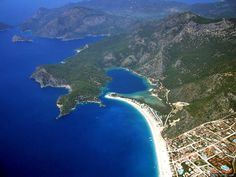 Fethiye ... from about this view too.  Mei-Mei & me paragliding!