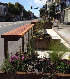 Planters, hardscape, fencing, surfaces