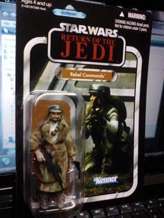 Star Wars Vintage OTC Rebel Commando Endor ROTJ figure NO OFFER Sticker VC26 MOC