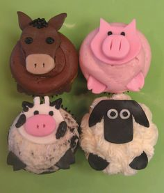 Farm animal cupcakes by Frostings Bake Shop