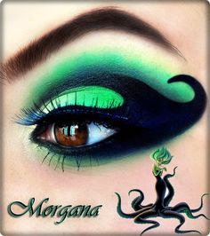 Makeup inspired by Disney Villains