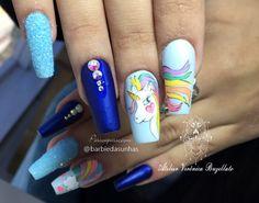 Unhas unicórnio - UNHAS DECORADAS - As mais lindas nails art com mais de 300 fotos para inspiração #unhas #unhasdecoradas #unhasdasemana #esmaltes #fotos #dicas #nails #nailart Love Nails, Nail Art, Beauty, Unicorn Nails, Nice Nails, Nailed It, Gorgeous Nails, Work Nails, Enamels