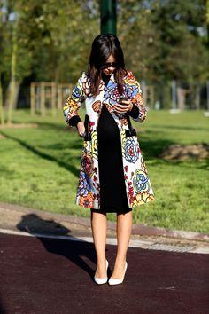 Miroslava Duma. Paris Fashion Week street style. Photo: Imaxtree