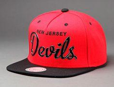 "MITCHELL & NESS x NHL ""New Jersey Devils Sonic"" Snapback Cap Nhl News, New Jersey Devils, Snapback Cap, Hockey, Game, Field Hockey, Snapback Hats, Gaming, Toy"