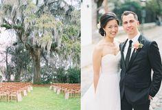 wedding ceremony seating - photo by Troy Grover Photographers http://ruffledblog.com/magnolia-plantation-wedding-with-sequins