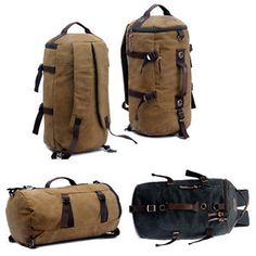 32L Extra Large Heavy Duty Canvas Military Army Duffle Bag Rucksack Backpack