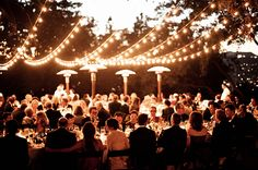 lighting at outdoor party