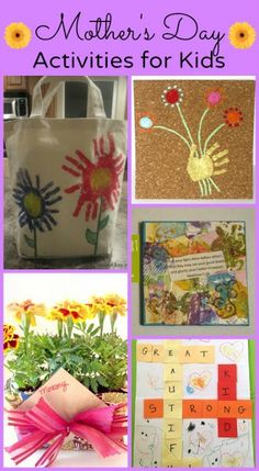 Mothers Day Activities for kids, crafts, games, DIY gifts, and more!