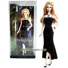 "Barbie Pink Label Series The Twilight Saga 12"" Doll - ROSALIE (Y5189) in Black Dress with Necklace, Bracelet & Earrings"