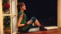 """Never Neverland"" - Peter Pan (Allison Williams) tells Wendy (Taylor Louderman) about a secret place where dreams are born and time is never planned in NBC's Peter Pan Live!"