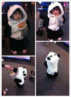Panda cosplay for baby/kid. WANT!