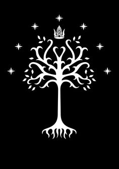 White Tree of Gondor from the Peter Jackson movie - partially redrawn and refined in vector format
