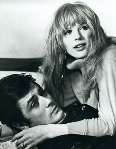 Marianne Faithfull & Alain Delon (1968) ~ Check out for more pins: https://www.pinterest.com/neno3777/alain-delon/