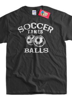 Funny Soccer TShirt Soccer Takes Balls TShirt by IceCreamTees, $14.99