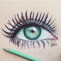 drawing, eye, and art afbeelding