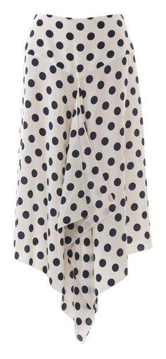 burda style, Schnittmuster - An dem weit fallenden Tupfenrock betont eine spitze Passe Taille und Hüfte, Nr. 125 A aus 04-2015
