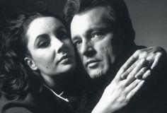 Liz Taylor and Richard Burton by Bert Stern