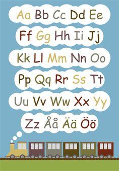 alfabete   ABC affisch