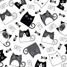 Gato Doodle, Doodle Art, Easy Canvas Painting, Painting For Kids, Cat Pattern Wallpaper, Rock Painting Designs, Cat Silhouette, Animal Sketches, Cat Drawing