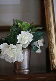 Gardenias.........simple, fragrant and beautiful.