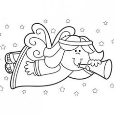 Christmas Angel Coloring Page - Free Christmas Recipes, Coloring Pages for Kids & Santa Letters - Free-N-Fun Christmas
