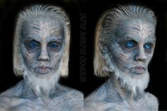 White Walker (Game of Thrones) Inspired Makeup