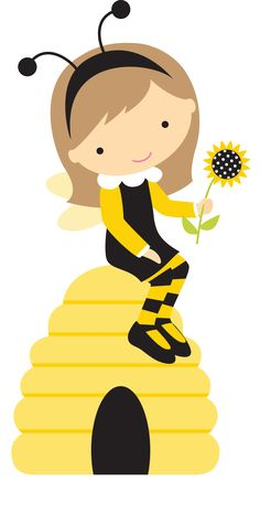 2--BORBOLETAS & JOANINHAS Cartoon Chef, Cute Cartoon, Clip Art, Bee Party, Cute Bee, Bee Theme, Cute Images, Mini, Illustration