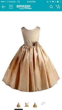 b41f30e52fc AMJ Dresses Inc Big Girls  Gold Flower Pageant Dress Sz Perfect for Flower  Girl Dress
