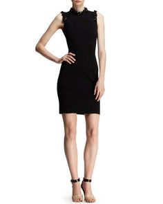Embellished Jersey Cocktail Dress by Lanvin at Neiman Marcus.