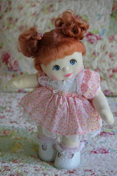 My Child Doll with red curly piggies