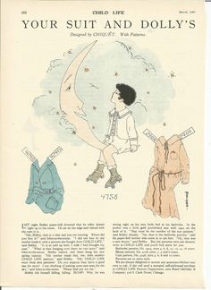 PAPER DOLLS (CHILD LIFE MAGAZINE) MARCH 1925 (DESIGNED BY CHIQUET)