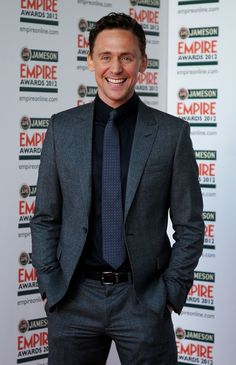 Tom Hiddleston at the 2012 Jameson Empire Awards. Via torrilla.tumblr.com