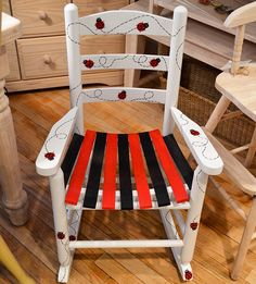Handpainted child's rocker by Woods and Company