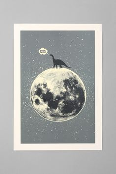 Aesthetic Apparatus For Society6 Lunasaurus Art Print #urbanoutfitters