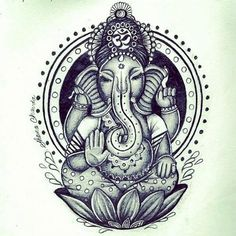 White Ink Lord Ganesha Tattoo On Biceps photo - 1