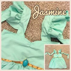 Jasmine (Aladdin) Inspired Girls, Toddler, Baby, and Infant Play Dress Baby Play, Infant Play, Princess Jasmine Party, Jasmine Costume, Play Dress, Toddler Outfits, Diy For Kids, Toddler Girl, Mac