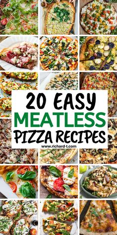 20 Amazing vegetarian pizza recipes you wish you made sooner! #vegetarianpizzarecipes #meatlesspizzas #pizzarecipes Best Vegetarian Pizza Recipe, Pizza Recipes, Spinach Pizza, Pesto Pizza, How To Make Pizza, Easy Food To Make, Sweet Potato Pizza Crust, Caprese Pizza, Vegetarian Lifestyle