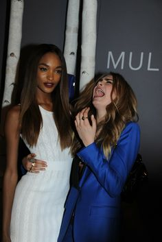 Jourdan Dunn and Cara Delevigne [Photo by Tim Jenkins]