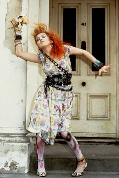 "The stories behind ""Time After Time"" - moving article. pic of Cyndi Lauper in London in 1983"